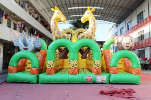 Double Lane Safari Inflatable Obstacle Course Chob543 pictures & photos