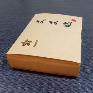 Kraft Paper Folded Gift Box with Gold Stamping pictures & photos