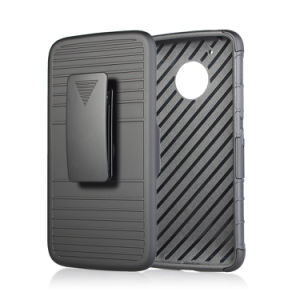 3 in 1 Military Style Future Stand Armor Impact Rugged Belt Combo Case for Moto G5 Car Phone Holder Case pictures & photos