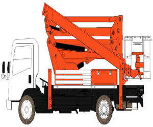 Hot Sale Boom Lift Truck with Max Working Height 22.2m pictures & photos