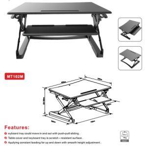 """Loctek 35"""" Wide Platform Height Adjustable Standing Desk Riser, Sit-Stand Workstation, Black (MT102M) pictures & photos"""