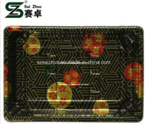 Floral Printed Top Grade Disposable Plastic Sushi Box (S05) pictures & photos