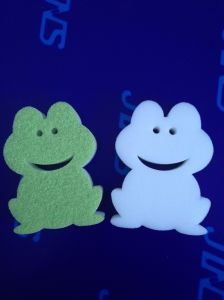 Frog Shape Scouring Pad, Cartoon Shape Cleaning Sponge pictures & photos