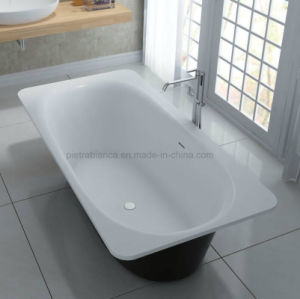 Simple White Inside and Black Outside Bathtub (PB1025N) pictures & photos