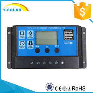 12V/24V Dual USB-5V/3A Solar Battery Charge Controller Rbl-20A pictures & photos