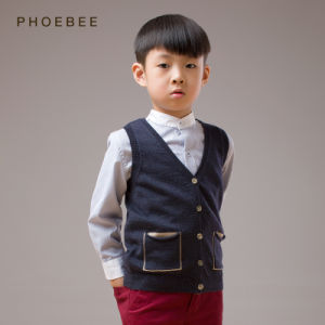 100% Wool Sleeveless Knitted Boys Clothes for Spring/Autumn pictures & photos