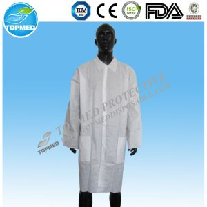 Xiantao Factory with Popular White SMS Lab Coat pictures & photos