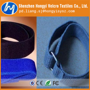 Nylon/Polyester Durable Adjustable Elastic Hook & Loop Velcro Band pictures & photos