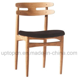 Simple Design Wooden Chair with PU Leather Upholstery for Dining Restaurant (SP-EC816) pictures & photos