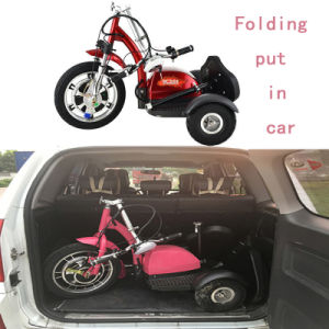 Good Price Red Color Folding Electric Mobility Scooter pictures & photos
