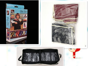 Two Color Non-Woven Fabric Shoe Tote pictures & photos