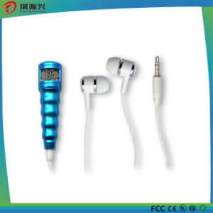 Fashion 3.5mm Mini Microphone Stereo Mic with Earphone for mobile Phone pictures & photos