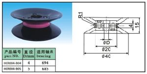 Plastic Flanged Ceramic Wire Roller for Cabe Machine pictures & photos