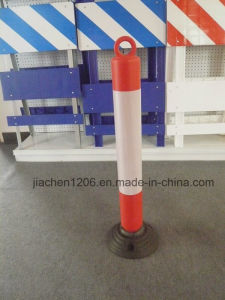 Durable 950mm PE Plastic Flex Bollard with Molded Chain Ring pictures & photos