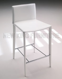 Modern PU Leather High Quality White Bar Stool Chair (NK-DCA033-1)