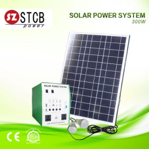 300W Solar System with Battery and Panel for Home Power Supply pictures & photos