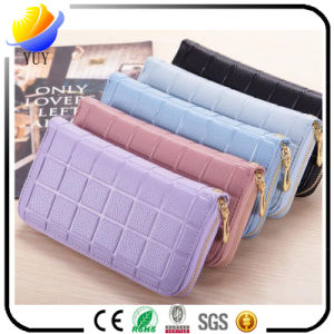 2017 New Lady Long Wallet Korean Original Ultra-Thin Bag Lady Small Wristlet Wallet Card pictures & photos