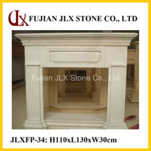 Beige Marble Modern Simple Design Fireplace pictures & photos