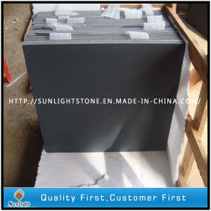 Sawn Cut/Honed Surface Black Basalt for Paving Stone, Cubestone pictures & photos
