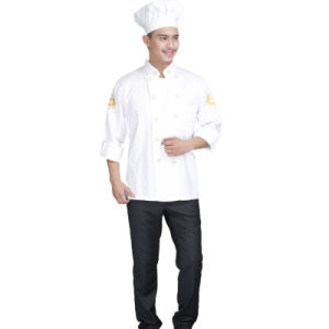 Restaurant White Classic Design Kitchen Chinese Chef Uniform of Cotton pictures & photos