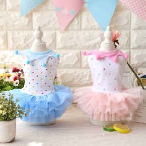 Fashion New Summer Dots Pet Dress Lovely Tutu Dog Skirts pictures & photos