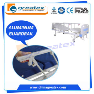 Hot Style Adjustable Back Manual Patient Beds with Under-Bed Shelf pictures & photos