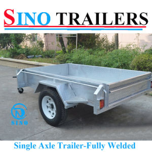 6*4 Higher Side Fully Welded Single Axle Furniture Trailer pictures & photos