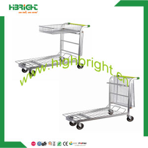 Two Tier Warehouse Trolley & Cart (HBE-W-2) pictures & photos