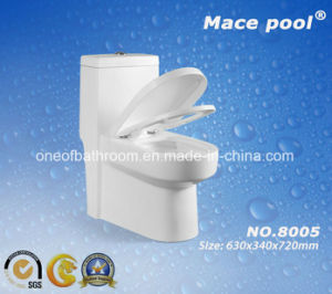 Ceramic One-Piece Toilet Siphonic Flushing Toilet (8005) pictures & photos