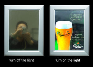 Magic Mirror Lightbox for Indoor Adverting Displays pictures & photos