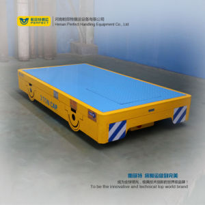 Motorized Flat Cart for Bay to Bay Die Transport Cart on Cement Floor pictures & photos