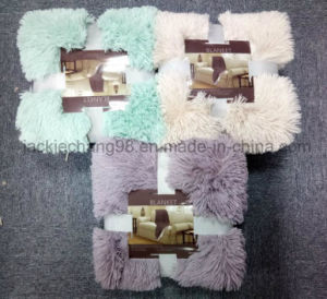 Long Hair PV Fleece Blanket pictures & photos