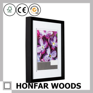 Black Wood Picture Frame with Mat for Hotel Guest Room pictures & photos