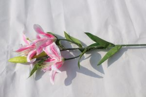 Real Touch Lily Flowers Latex Artificial Flowers for Wedding Bridal Bouquets pictures & photos