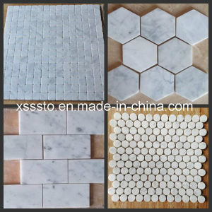 White/Beige/Brown/Black Marble Mosaic Tile for Flooring and Wall Clading pictures & photos