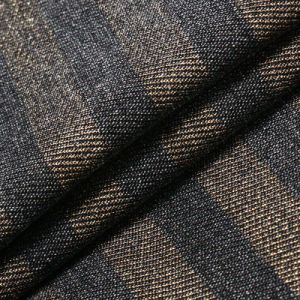 Gold Strip Cotton Viscose Polyester Spandex Denim Fabric of Jeans pictures & photos