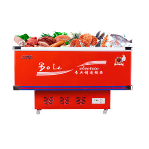 Sliding Door Flat Cabinet Counter Depth Refrigerator with Stainless Corner pictures & photos