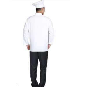 Double-Breasted Snap Button Chef Uniforms Restaurant Uniform pictures & photos