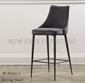 Modern Light Grey Lounge Leather Kitchen Bar Chair (NK-DCA038-1) pictures & photos