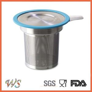 Stainless Steel Mug Tea Filter Tea Infuser Silicone Rimmed Lid Strainer Ws-If001 pictures & photos