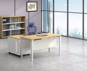 White Customized Metal Steel Office Staff Table Frame with Ht87-1 pictures & photos