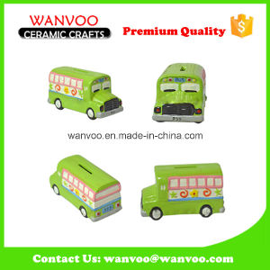 Promotional Porcelain Coin Money Saving Box Bus Toy for Kids pictures & photos
