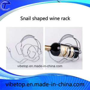 Very Cheap Price Snail-Shaped Silver Beautiful Wine Rack pictures & photos