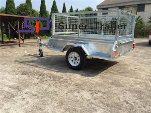 China OEM/ODM 6*4FT Single Axle Caged Box Trailer