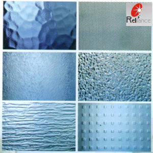 Clear 3mm~6mm Map/Bamboo/Wave Figure Pattern Glass pictures & photos