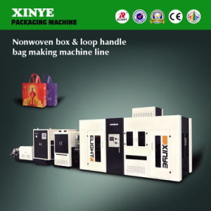 Automatic Nonwoven Box & Loop Handle Bag Making Machine Line pictures & photos