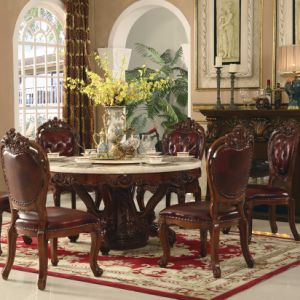 Extendable Wood Dining Table with Arm Chair for Home Furniture (868) pictures & photos