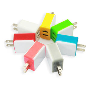 EU Us Au Plug Portable Dual USB 2 Ports Phone Charger Travel Wall Charger for Mobile Phone pictures & photos