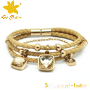 Stbl-026 Fashion Jewelry Wholesale Leather Buckle Bracelet pictures & photos
