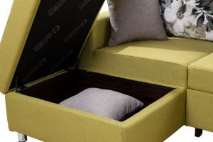 Multi-Functional Sectional Fabric Sofa Bed Set with Storage pictures & photos
